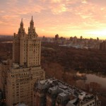 New York City, view overlooking the San Remo and Central Park. In the background is the upper east side.