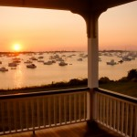 Block Island Porch Sunset