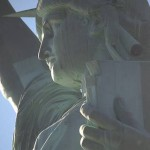 statue of liberty profile, canvas.transfer